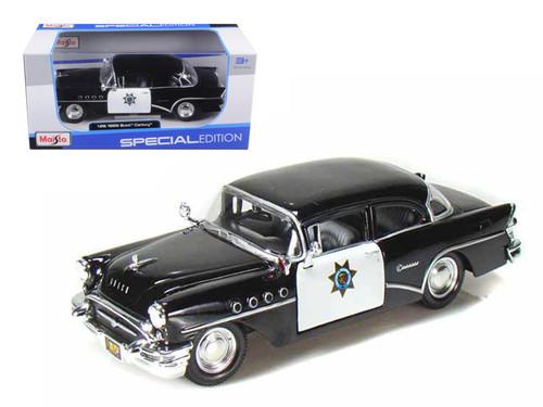 1955 Buick Century CHP California Highway Patrol 1/24 Scale Diecast Car Model By Maisto 31295