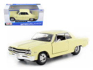 1965 Chevy Malibu SS Yellow 1/24 Scale Diecast Car Model By Maisto 31258