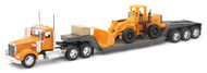 Kenworth W900 Lowboy With Construction Tractor Truck & Trailer 1/32 Scale By Newray 10623