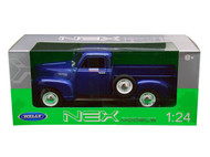 1953 Chevrolet 3100 Pickup Truck Blue 1/18 Scale Diecast Model By Welly 19836
