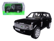 Land Rover Range Rover Black SUV 1/24 Scale Diecast Model By Welly 22415