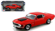 1970 Ford Mustang Boss 429 Red 1/18 Scale Diecast Car Model By Motor Max 73154