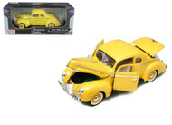 1940 Ford Deluxe Yellow 1/18 Scale Diecast Car Model By Motor Max 73108