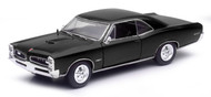Newray 1/24 Scale Muscle Car Collection 1966 Pontiac GTO Black Diecast Car Model 71853