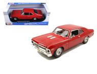 1970 Chevrolet Nova SS Super Sport Red 1/18 Scale Diecast Car Model By Maisto 31132