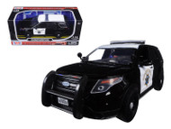 2015 Ford Interceptor CHP Police Black & White 1/24 Scale Diecast Car Model By Motor Max 76955