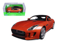 Jaguar F-Type Orange 1/24 Scale Diecast Car Model By Welly 24060