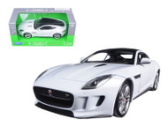 Jaguar F Type F-Type White 1/24 Scale Diecast Car Model By Welly 24060