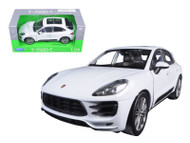 Porsche Macan Turbo White 1/24 Scale Diecast Car Model By Welly 24047