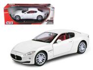 Maserati Gran Turismo White 1/18 Scale Diecast Car Model By Motor Max  79151