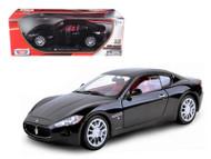 Maserati Gran Turismo Black 1/18 Scale Diecast Car Model By Motor Max  79151
