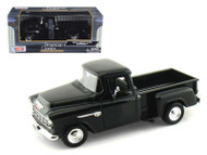 1955 Chevrolet Chevy Stepside 5100 Pick Up Truck Black 1/24 Scale Diecast Model By Motor Max 73236