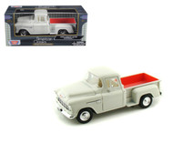 1955 Chevrolet Chevy Stepside 5100 Pick Up Truck Cream 1/24 Scale Diecast Model By Motor Max 73236