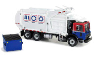 Mack Terrapro With Witkke Refuse Front End Loader With Trash Bin Truck 1/34 Scale Diecast Model By First Gear 10-3993