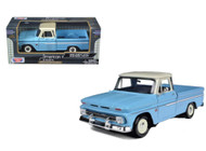 1966 Chevrolet C-10 Fleetside Pickup Truck Blue 1/24 Scale Diecast MOdel By Motor Max 73355