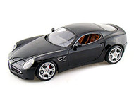 Alfa Romeo 8C Competizione Black 1/18 Scale Diecast Car Model By Bburago 12077