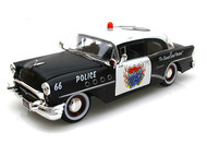 Maisto ALL STARS 1/26 Scale 1955 Buick Century Koolsville Police Car Primer Black Diecast Car Model 31341