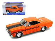 1970 Plymouth GTX Orange 1/25 Scale Diecast Car Model By Maisto 31220
