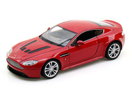 Aston Martin V12 Vantage Red 1/24 Scale Diecast Car Model By Welly 24017