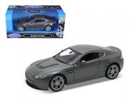 Aston Martin V12 Vantage Grey 1/24 Scale Diecast Car Model By Welly 24017