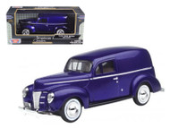 1940 Ford Sedan Delivery Blue Purple 1/24 Scale Diecast Car Model BY Motor Max 73250