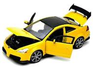 2003 Honda Accord Custom Tuner Yellow 1/18 Scale Diecast Car Model By Motor Max 73146