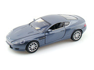 Aston Martin DB9 Coupe Blue Grey 1/24 Scale Diecast Car Model By Motor Max 73321