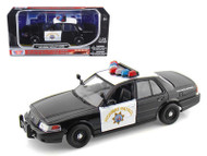 2010 Ford Crown Victoria California Highway Patrol Police CHP 1/24 By Motor Max 76459