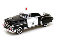 Motor Max 1/24 Scale 1950 Chevy Bel Air Coupe Police Car Diecast Model 76931