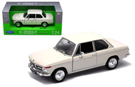 BMW 2002Ti 2002 Ti Cream 1/24 Scale Diecast Car Model By Welly 24053