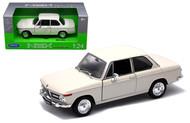 BMW 2002Ti 2002 Ti Cream 1/24 Scale Diecast Car Model By Welly 24053