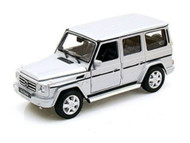 Welly 1/24 Scale Mercedes Benz G Class Wagon Silver Diecast Car Model 24012