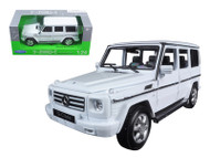 Welly 1/24 Scale Mercedes Benz G Class Wagon White Diecast Car Model 24012