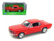 1964 1/2 Ford Mustang Coupe Hard Top Red 1/24 Scale Diecast Car Model By welly  22451
