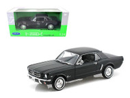 1964 1/2 Ford Mustang Coupe Hard Top Black 1/24 Scale Diecast Car Model By welly  22451