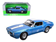 Welly 1/18 Scale 1972 Pontiac Firebird Trans Am T/A Blue Diecast Car Model 12566
