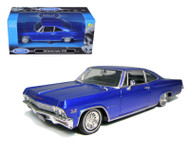 1965 Chevy Impala SS 396 Blue Low Rider 1/24 Scale Diecast Car Model By Welly 22417
