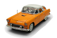 1956 Ford Thunderbird T Bird Hard Top Orange 1/18 Scale Diecast Car Model By Motor Max 73176