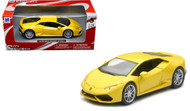 Newray 1/24 Scale Lamborghini Huracan LP610-4 Yellow Diecast Car Model 71313