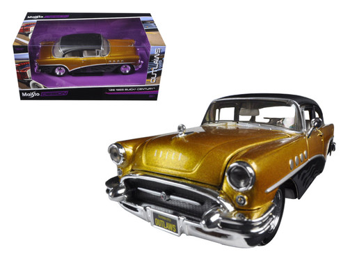 1955 Buick Century Gold Outlaws 1/24 Scale Diecast Car Model By Maisto 32507