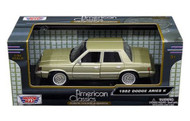 1982 Dodge Aries K Green 1/24 Scale Diecast Car Model By Motor Max 73335