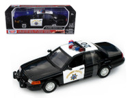 Ford Crown Victoria CHP California Highway Patrol Police 1/18 Scale Diecast Car Model By Motor Max 73501