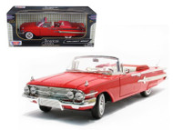 1960 Chevy Impala Convertible Red 1/18 Scale Diecast Car Model By Motor Max 73110