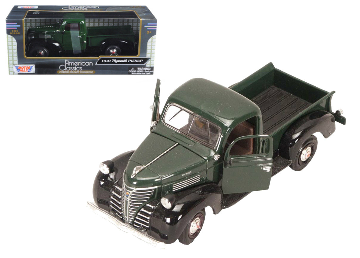 1941 Plymouth Pickup Truck Black Green 1 24 Scale