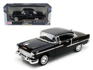 1955 Chevrolet Bel Air Black 1/18 Scale Diecast Car Model By Motor Max 73185