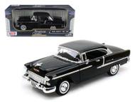 1955 Chevrolet Bel Air Black 1/18 Scale Diecast Car Model By Motor Max 73185