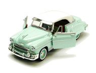 1950 Chevrolet Chevy Bel Air Light Green 1/24 Scale Diecast Car Model By Motor Max 73268