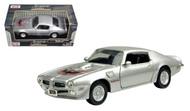 1973 Pontiac Firebird Trans AM T/A Silver 1/24 Scale Diecast Car Model By Motor Max 73243