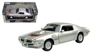 1973 Pontiac Firebird Trans AM T/A Silver 1/24 Scale Diecast Car Model By Motor Max 73243