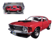 1970 Ford Mustang Boss 429 Red 1/24 Scale Diecast Car Model Motor Max 73303